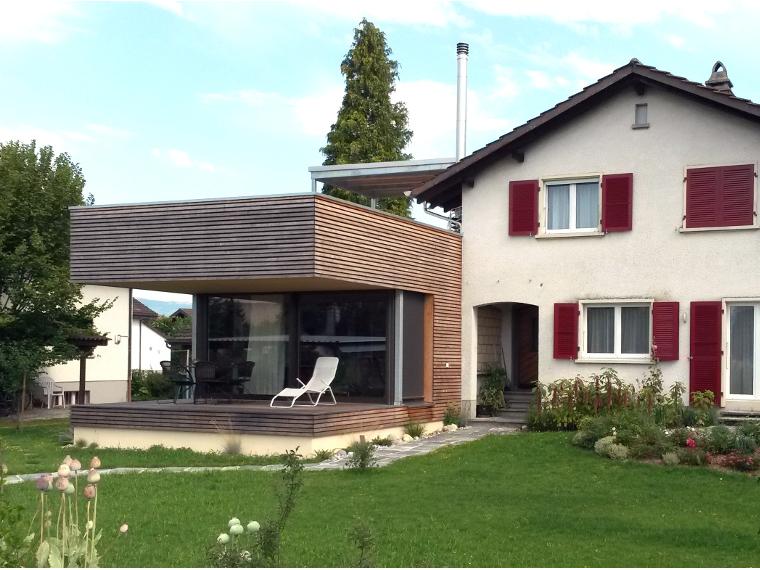 2016 anbau bestehendes wohnhaus pedrett utzenstorf. Black Bedroom Furniture Sets. Home Design Ideas
